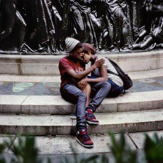 00736_14, A couple at Union Square, NYC, USA, 2010